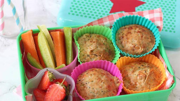 picnic muffins de brocoli queso