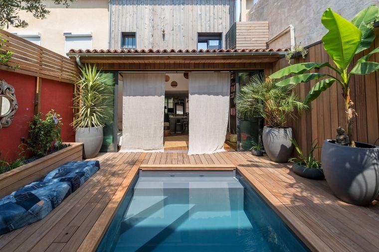 piscinas pequeñas-largas-estrechas