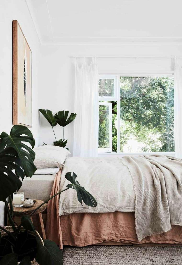 plantas en macetas-diseno-dormitorio-moderno