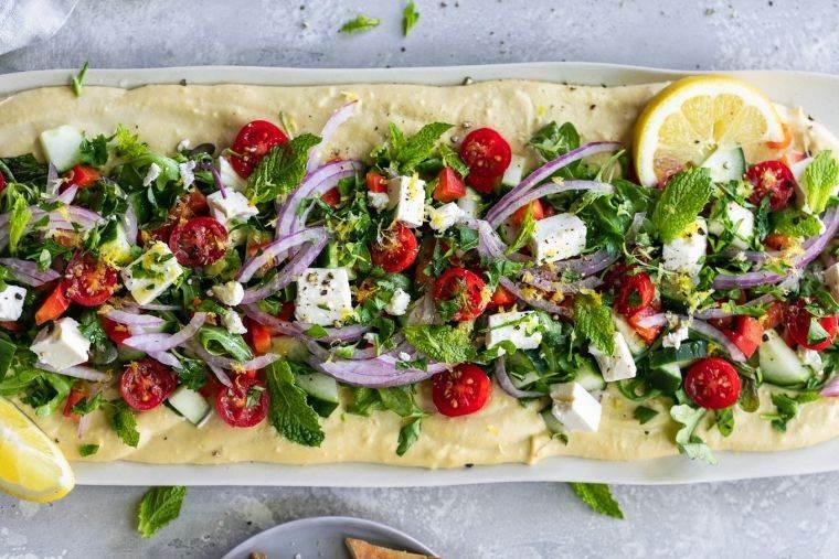 recetas para picnic-humus-ensalada
