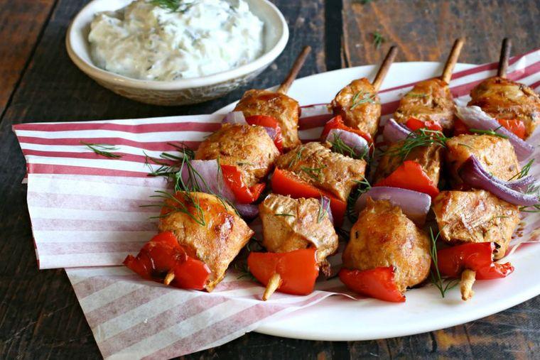 recetas ricas brocheta pollo
