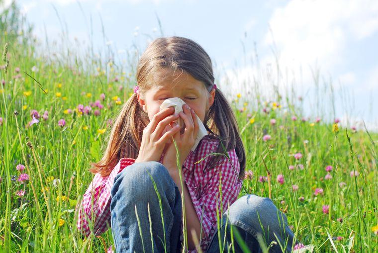 rinitis alérgica niña