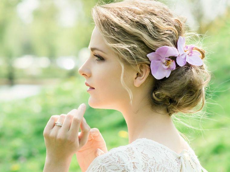 tipos de peinados con flores