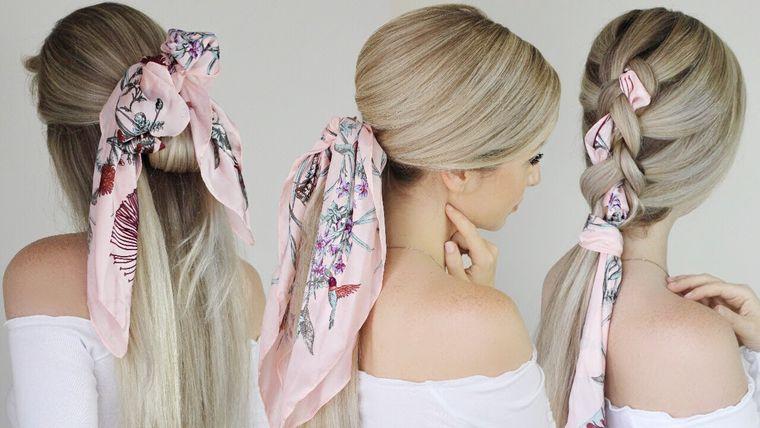 tipos de peinados con pañuelo