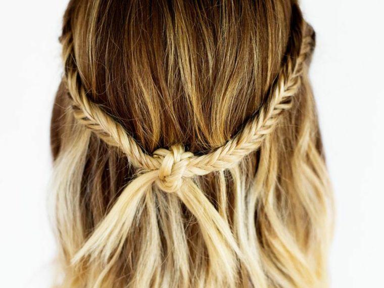 tipos de peinados trenzas finas