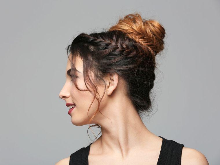 tipos de peinados trenzas moños