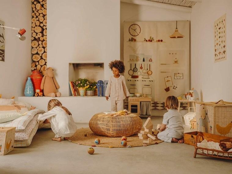 Configuración de la sala de juegos para niños de Zara Home