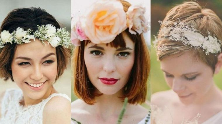 Peinados-para-bodas-pelo-corto-rubio-corona-flores