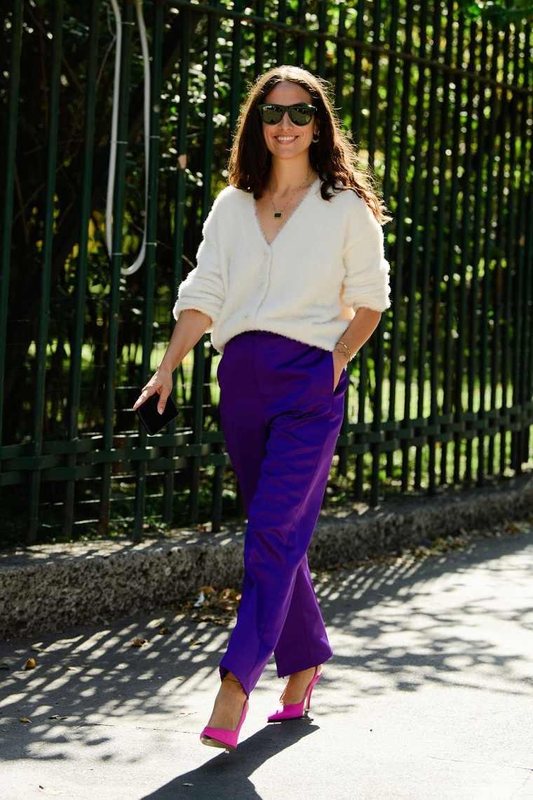 Tendencias moda primavera verano 2020 pantalones-color