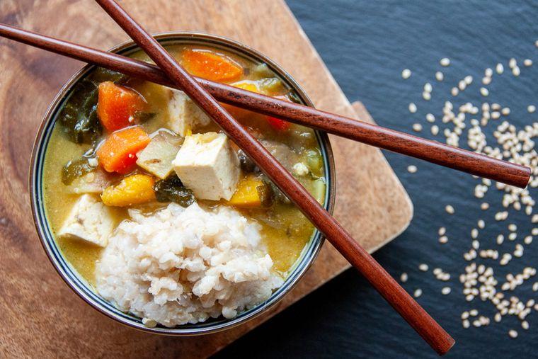 alimentación saludable oriental