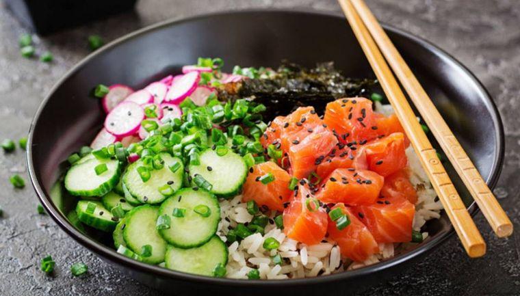 alimentación saludable salmon