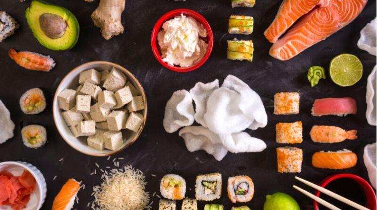alimentación saludable sushi