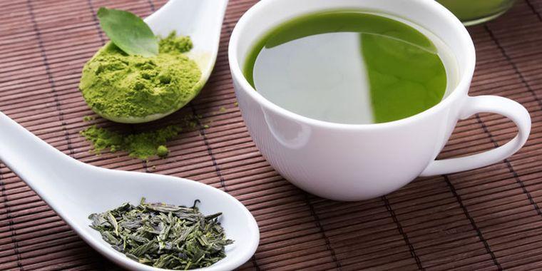 alimentación saludable te verde