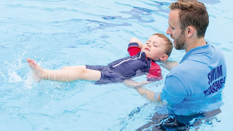 aprender a nadar esfuerzo