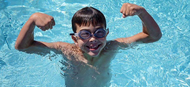 aprender a nadar logro