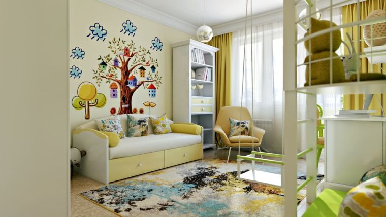 arbol-pared-ideas-estilo-ninos