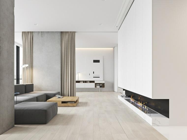 chimenea-electrica-salon-minimalista