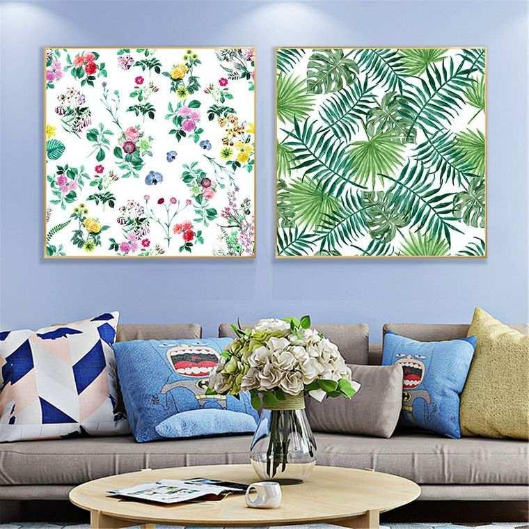 decoración de interiores cuadros tropicales