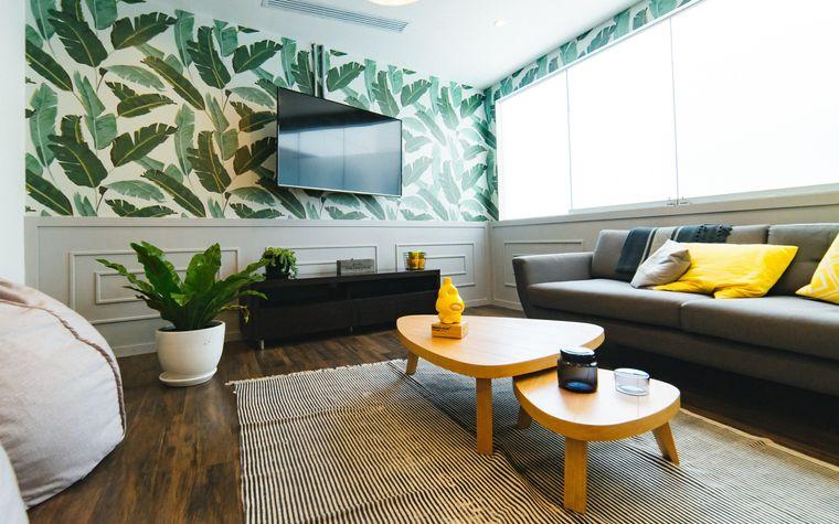 decoración de interiores estilo tropical