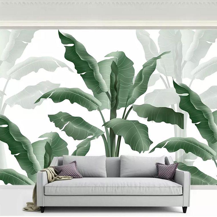 decoración de interiores grandes hojas