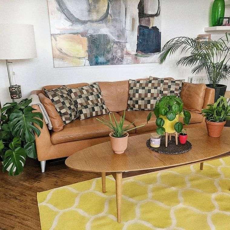 decoración de interiores plantas