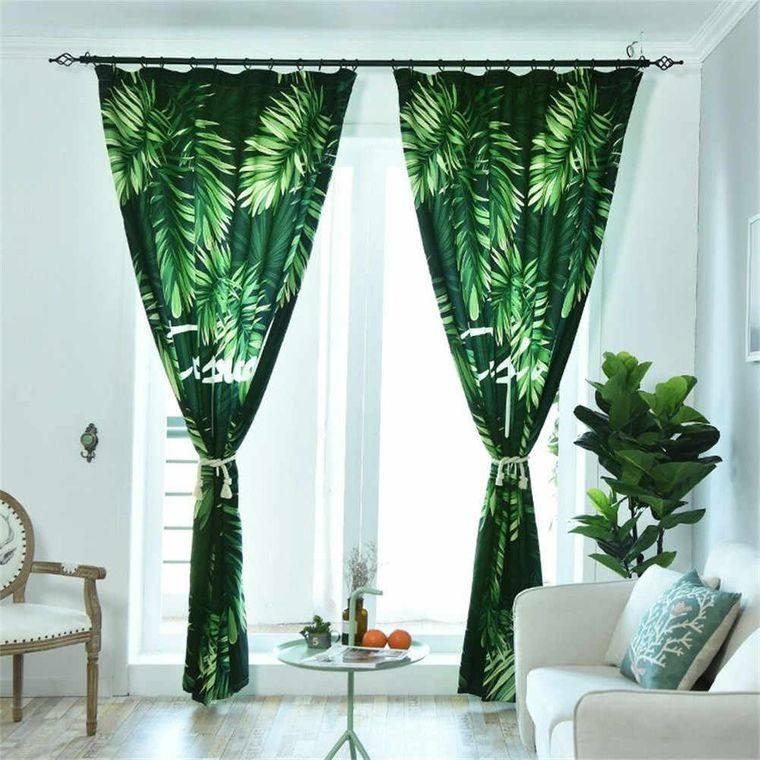 decoración de interiores vegetacion cortina