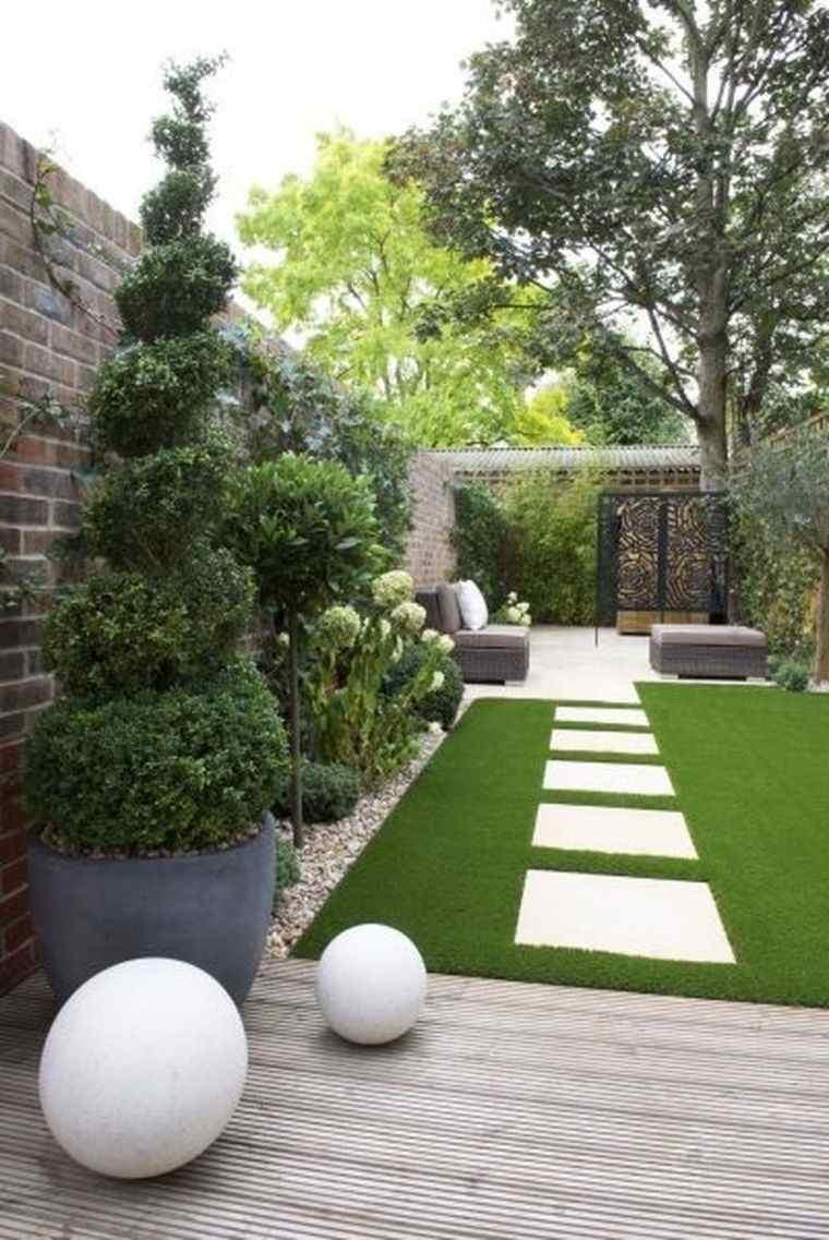 diseño de jardines alargados