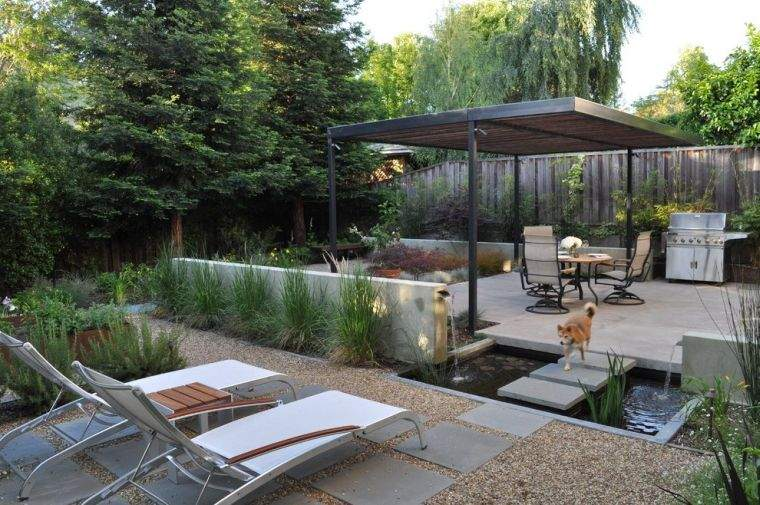 diseño de jardines con agua