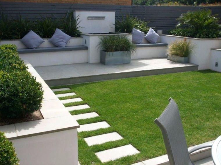 diseño de jardines cuadrados