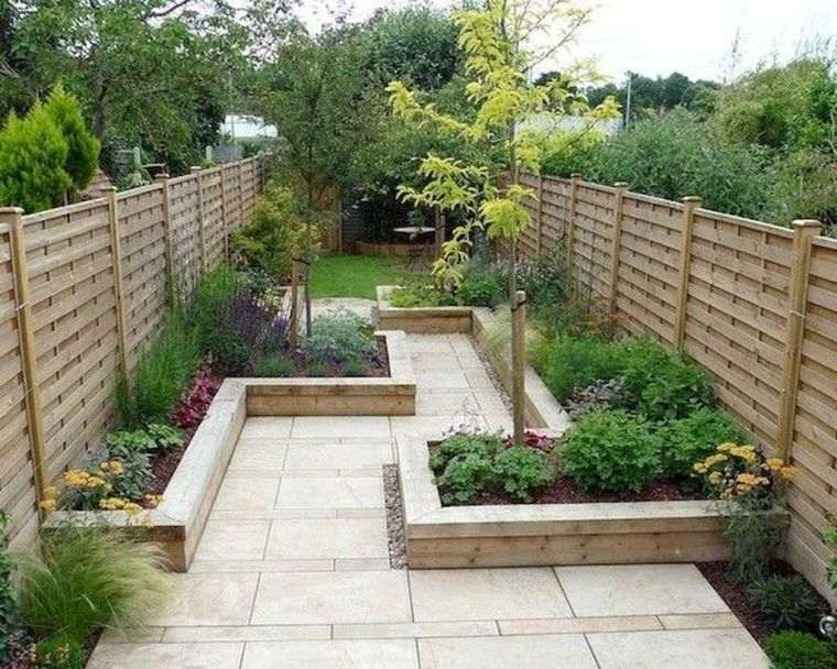 diseño de jardines lineas