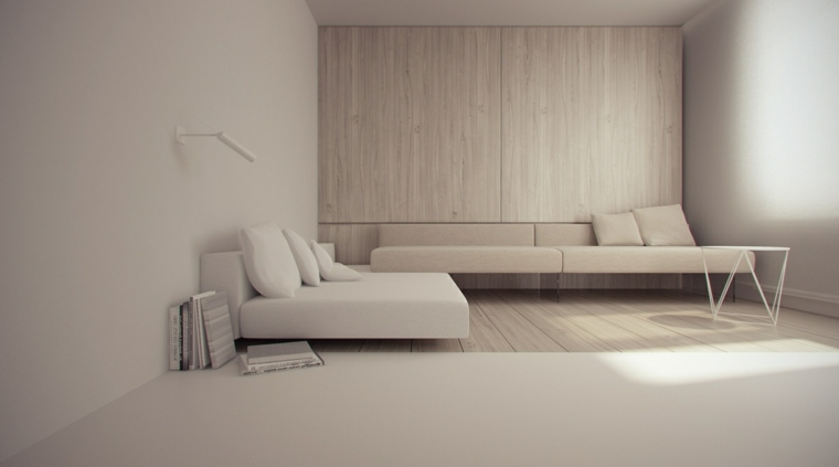 diseno-minimalista beige-madera