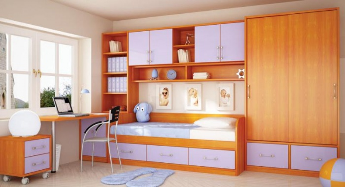 dormitorio-infantil-color-naranja