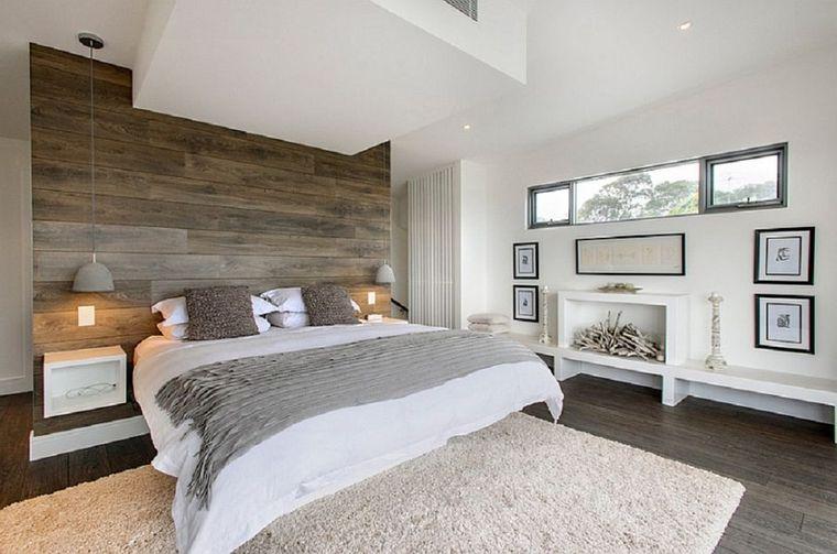 dormitorio minimalista alfombra