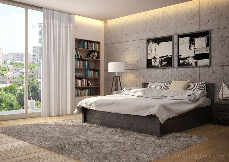 dormitorio minimalista amplio