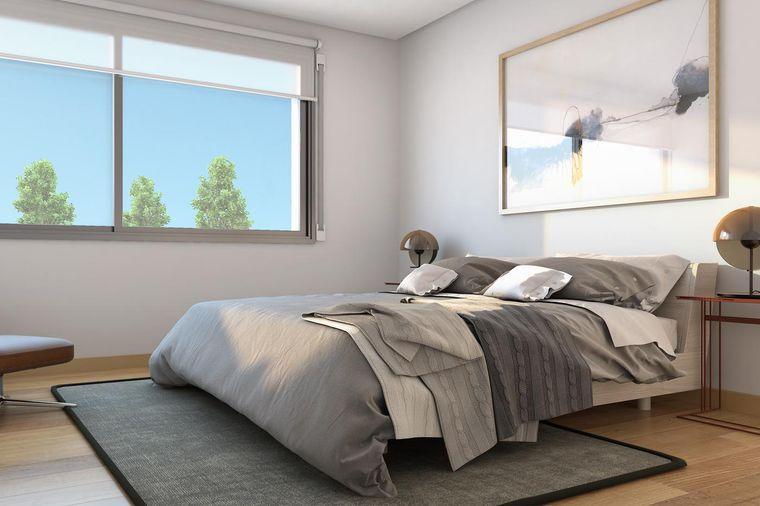 dormitorio minimalista arte pared