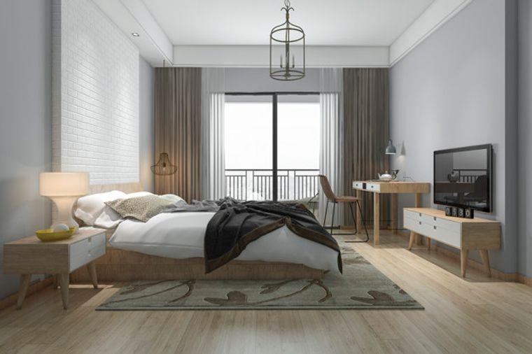 dormitorio minimalista claro