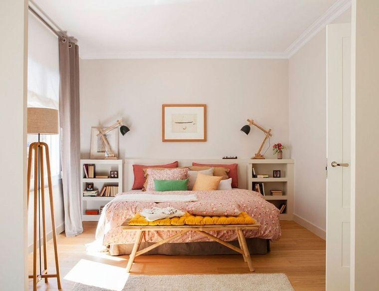 dormitorio minimalista color