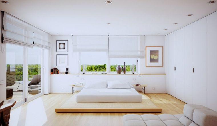 dormitorio minimalista despejado