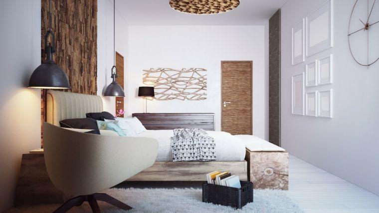 dormitorio minimalista detalles paredes