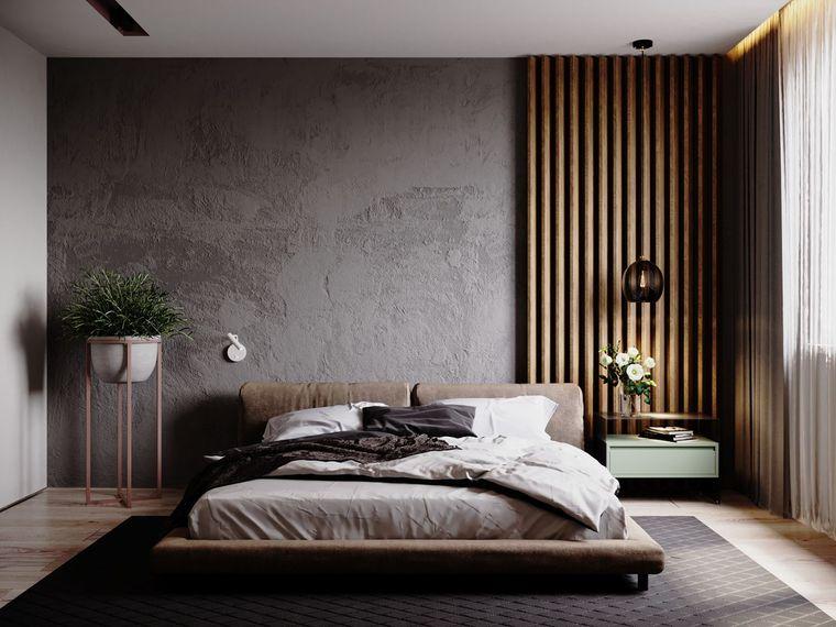 dormitorio minimalista detalles