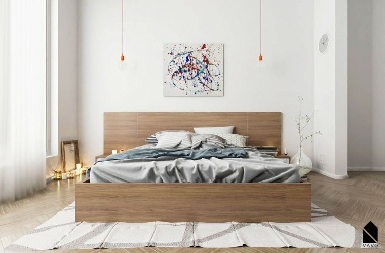 dormitorio minimalista matrimonial
