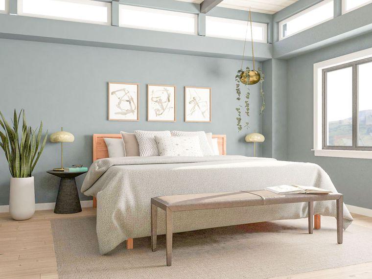 dormitorio minimalista pequeño