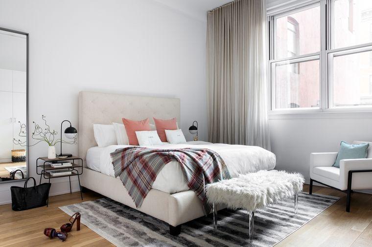 dormitorio minimalista textura