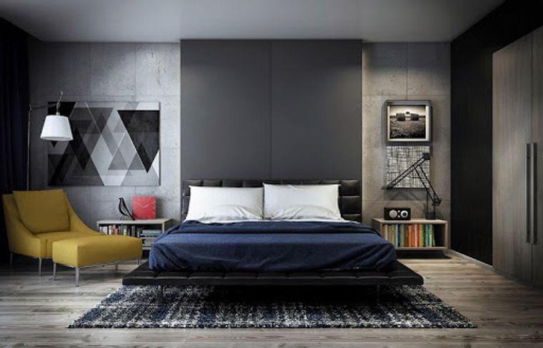 dormitorio minimalista tonos