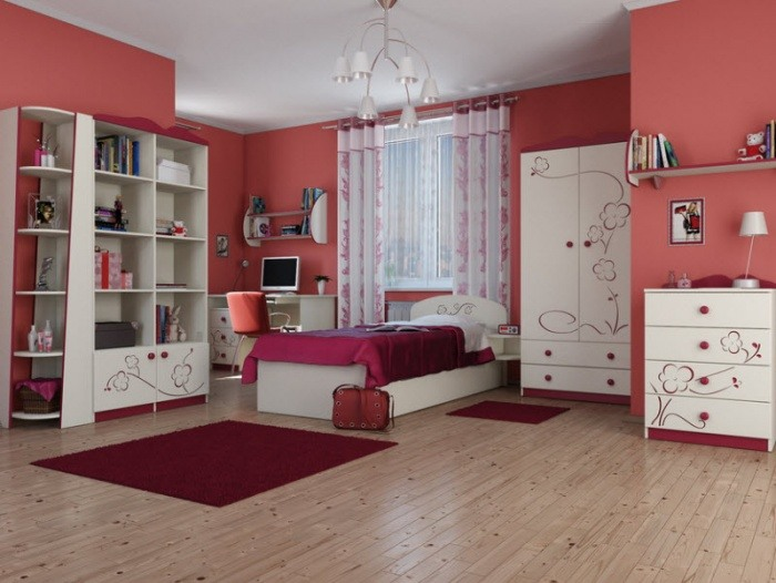 dormitorios-infantiles-originales-color-coral