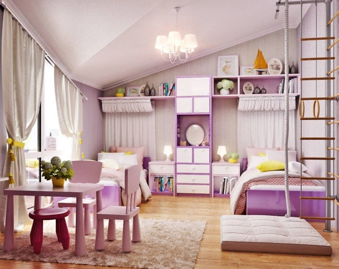 dormitorios-infantiles-originales-color-purpura