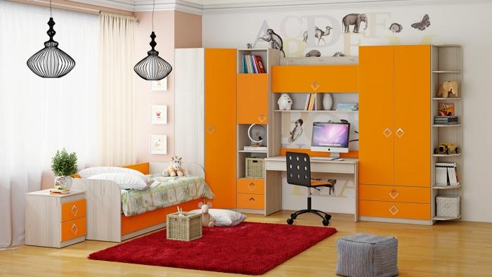 quartos infantis originais laranja <img data-count=