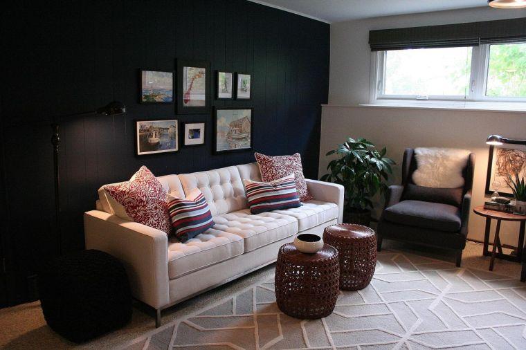 espacios pequeños-estilo-pared-negra
