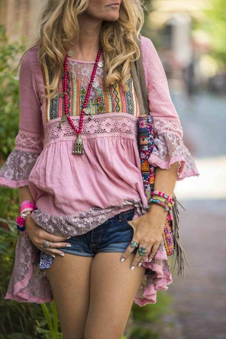 estilo hippie blusa larga