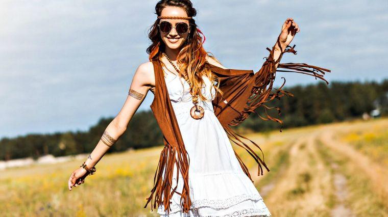 estilo hippie flecos